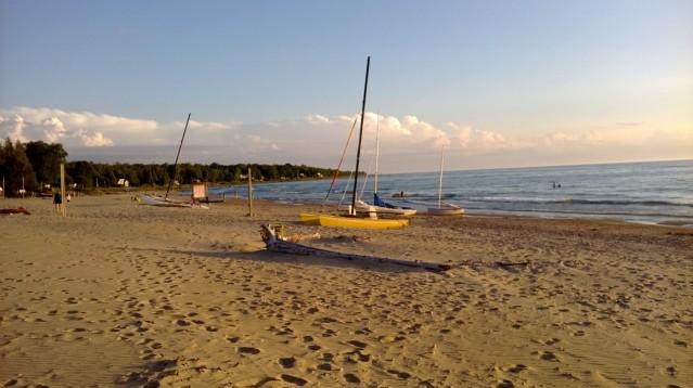 Inverhuron beach is popular with sailors